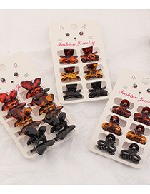 Fashion Butterfly Resin Butterfly Hit Color Grip Set