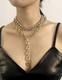 Fashion White K Alloy Chain Y-shaped Necklace