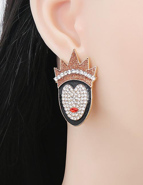 Fashion Gold Halloween Queen's Stud Earrings