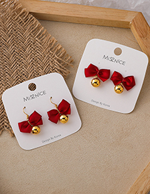 Fashion Earrings Bowknot Bell Alloy Stud Earrings