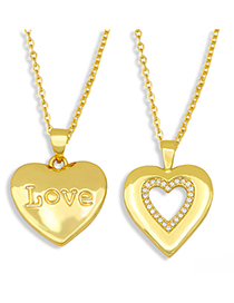 Fashion Letter Diamond Love Heart Titanium Steel Letter Necklace
