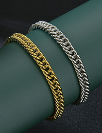 Fashion Golden Double Woven 8.5mm Thick Stainless Steel Chain Bracelet