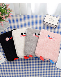 Fashion Creamy-white Plush Big Eyes Embroidered Tablet Computer Bag 11 Inch 10.5 Inch 9.7 Inch Liner