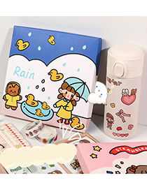 Fashion Multiple Yellow Ducks On Blue Background Character Decoration Hand Account Sticker