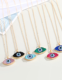 Fashion Red Resin Eye Pendant Alloy Necklace