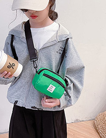 Fashion Black Nylon Lettermark Childrens Shoulder Messenger Bag