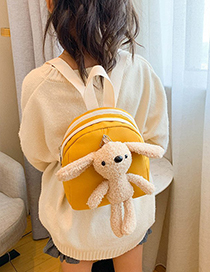 Fashion Yellow Doll Rabbit Contrast Color Childrens Backpack