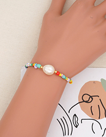 Fashion Section 1 Colorful Rice Beads Beaded Pearl Bracelet