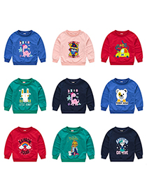 Fashion Green 1 Childrens Cartoon Pullover Sweater 1-7 Years Old