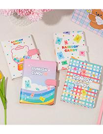 Fashion Rainbow Bunny Cartoon Gummy Bear Notepad