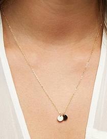 Fashion Steel Color-2 Pieces Stainless Steel 6mm Round Pendant Necklace