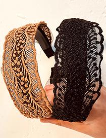 Fashion Black Lace Lace Fabric Hollow Headband