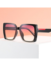 Fashion Bright Black And Gray Flakes Square Anti-ultraviolet Trimmed Dot Paint Sunglasses