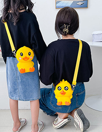 Fashion Webbing Style-grieved Duck Silicone Childrens Duckling Messenger Bag