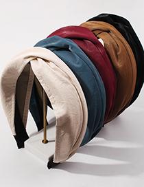 Fashion Red Wine Fabric Knotted Headband