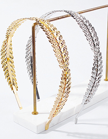 Fashion Golden Metal Leaf Headband