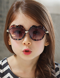 Fashion Pearlescent Rose Powder Childrens Pearly Lip Sunglasses