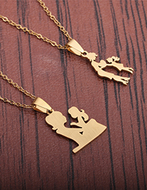 Fashion Section 1 Titanium Steel Character Necklace