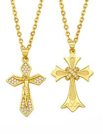 Fashion A Diamond Cross Pendant Necklace