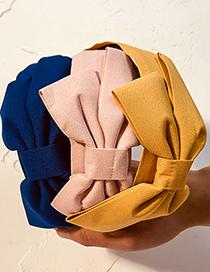 Fashion Red Pure Color Fabric Bow Headband