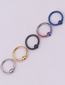 Fashion Steel Color Vacuum Plated Stainless Steel Nose Nails
