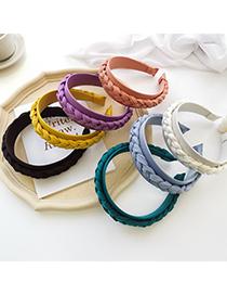 Fashion White Fabric Woven Twist Braid Headband