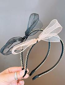 Diadema De Organza Con Mariposa Grande