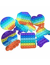 Fashion Color Round Large (12.3*12.3) Rainbow Children's Mental Arithmetic Decompression Educational Toys