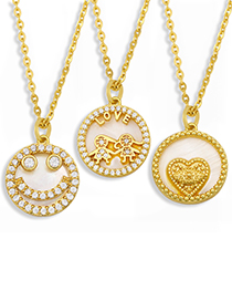 Fashion Smiley Love Diamond Necklace