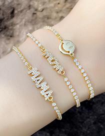 Fashion C Letter Adjustable Bracelet Mama