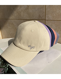 Fashion Purple Letter Nyc Embroidered Soft Top Baseball Cap