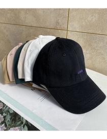 Fashion Khaki One Letter Embroidery Soft Top Baseball Cap