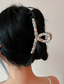 Fashion Pink Pan Hair Geometric Floral Grabbing Clip