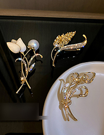 Fashion Wheat Ears Diamond Wheat Ear Brooch