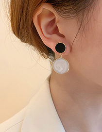 Fashion Drip Earrings Drop Oil Round Earrings