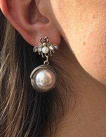 Pendientes Abeja Geométrica De Perlas