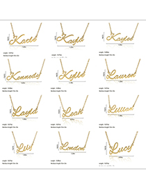 Fashion Katie-gold Stainless Steel English Letter Necklace