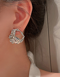 Fashion Gold Color Irregular Hollow Earrings