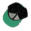 Extra Black Double Color Flower Decorated Design Canvas Baseball Caps
