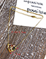 Fashion Golden Z Copper Inlaid Zircon Love Letter Necklace