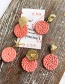 Fashion Orange Alloy Woven Wood Conch Round Earrings