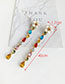 Fashion Gold + Color Alloy Pearl Flower Stud Earrings