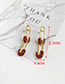 Fashion White Alloy Diamond Stud Earrings