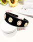 Fashion Black Fabric Alloy Pearl Flower Portrait Headband