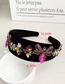 Fashion Green Insect Alloy Diamond Insect Velvet Headband