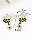 Elegant Multi-color Star Shape Design Hollow Out Earrings