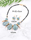 Fashion Gray Water Drop Shape Decorated Jewelry Set