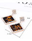 Elegant Coffee Hollow Out Design Square Shape Earrings