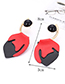Fashion Plum Red Irregular Shape Design Simple Earrings