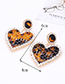 Elegant Black Hollow Out Design Heart Shape Earrings